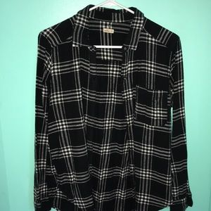 hollister medium weight flannel